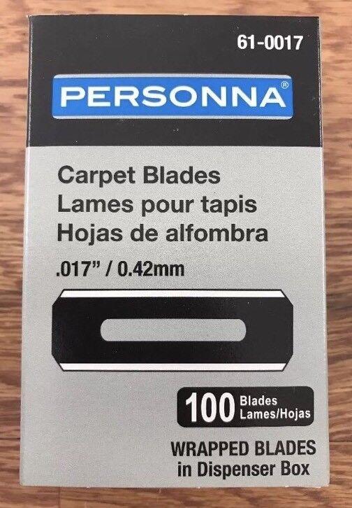 Personna 61-0017 Round Carpet Knife Blades, 100 Per Box, 10 Boxes