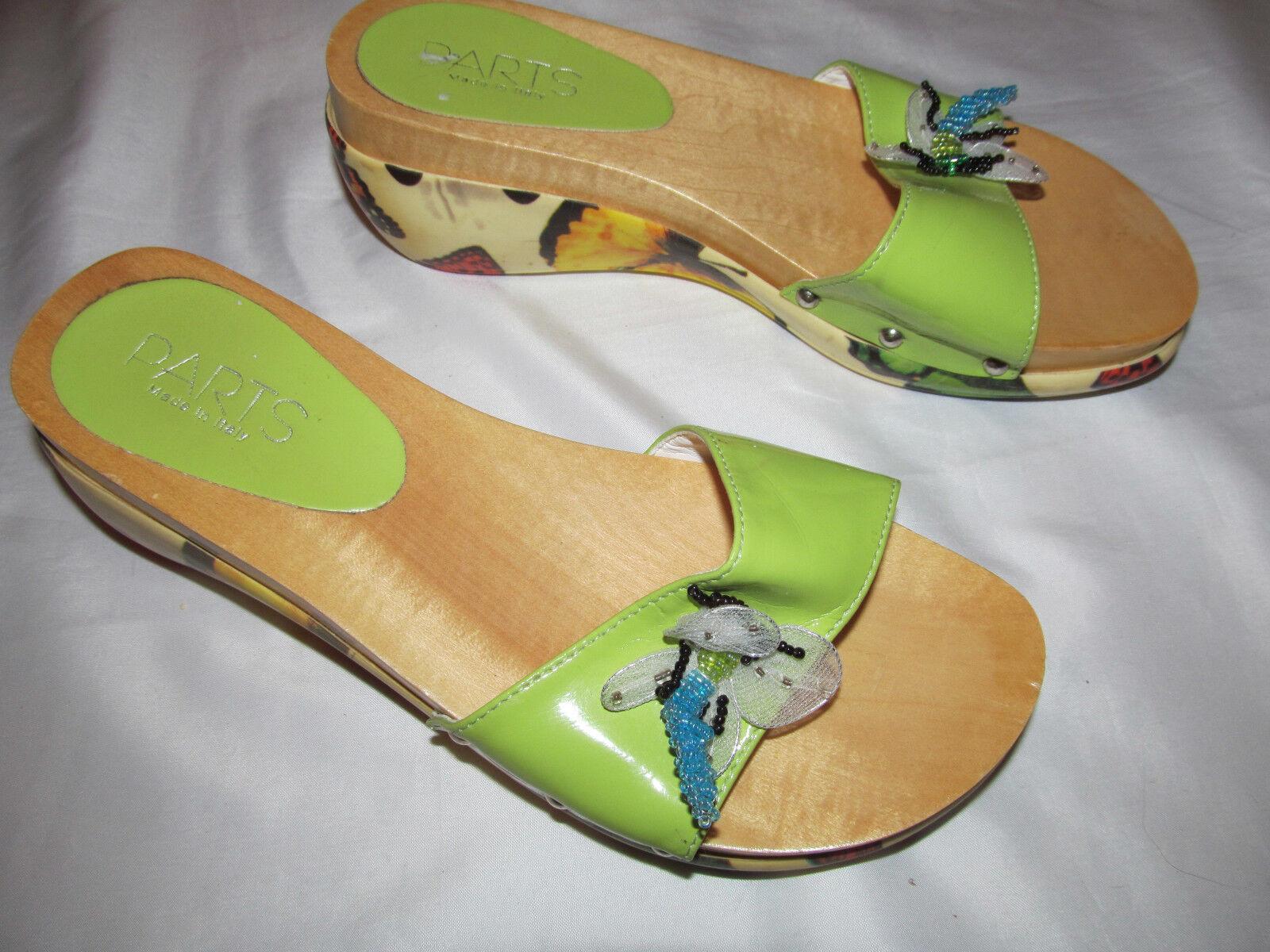 Los cantos a a a media sopra piezas mariposa de impresión con Cuentas Sandalias de cuña Zapatos de diapositivas Libélula  punto de venta de la marca