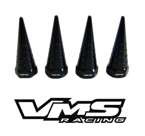 VMS BILLET ALUMINUM BLACK B16 B18 VTEC VALVE COVER SPIRAL SPIKE NUTS BOLTS 8 PCS