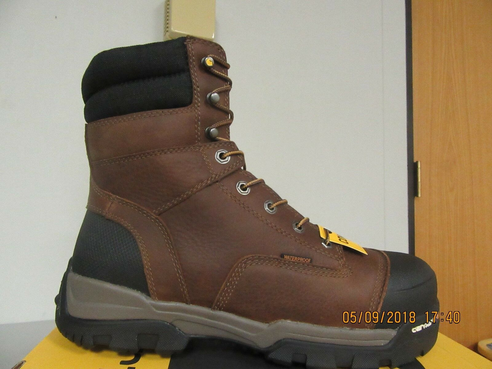 Carhartt Boot CME8355 Men's 8  Brown Waterproof sz. 10