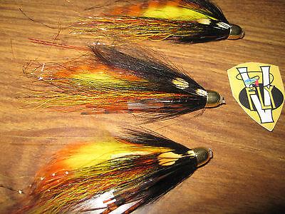 Orange Body Willie Gunn Salmon Tube Fly 15mm X3 Large Eumer Fluo Orange Conehead