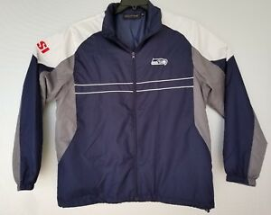 new product 6d9d8 76a50 Details about Dunbrooke NFL Seattle Seahawks Jacket Mens Large Windbreaker  Full Zip