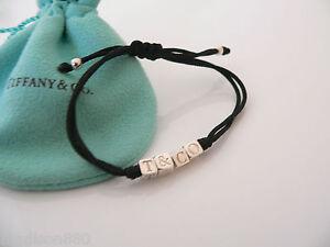 f5950d057 Tiffany & Co Silver ERA Black Double Rope T & Co Cube Bracelet ...