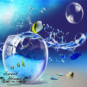 3d Big Bubbles Under Sea Wallpaper Full Wall Mural Photo Printed