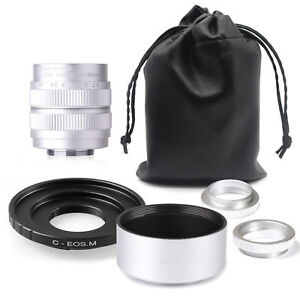 Fujian-35mm-F1-7-CCTV-TV-cine-lens-for-Canon-EOSM-EF-M-Mirrorless-Camera-SILVER