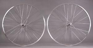 Sun CR18 Silver Track Bike Fixed Gear Singlespeed Wheels Wheelset 36h DT 2.0
