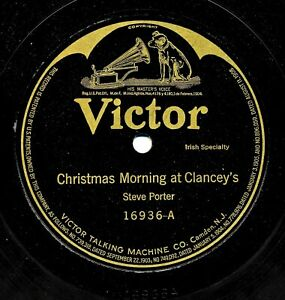 Christmas-Morning-at-Clancey-039-s-c-1919-Victor-16936-Recorded-in-1908