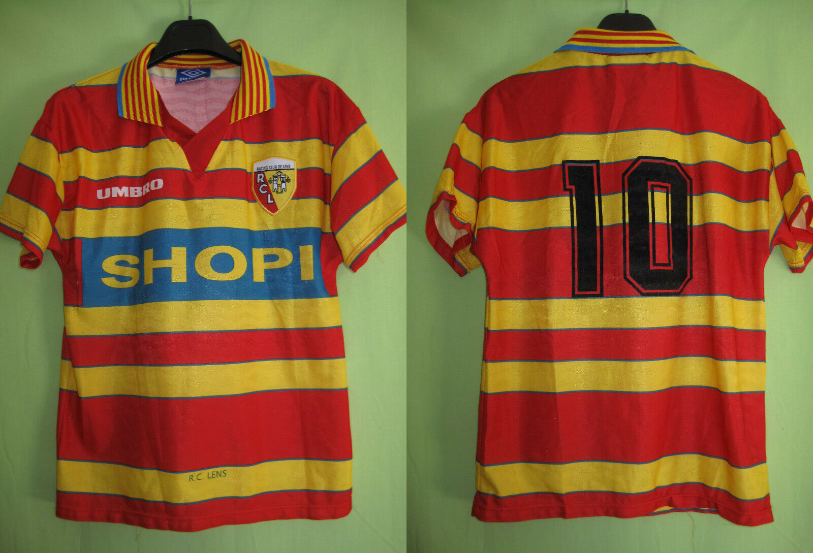 Maillot Racing Club de Lens Shopi  10 RCL vintage jersey Football  S