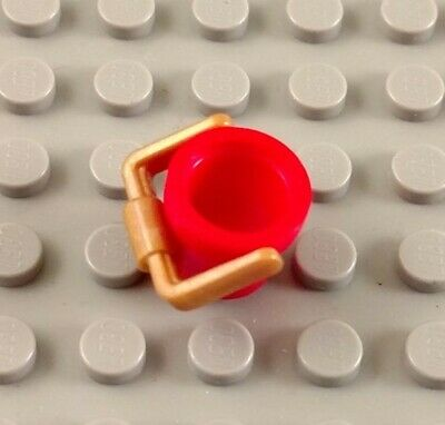 LEGO Red Minifigure Pail Bucket Tool Accessory