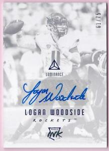 LOGAN-WOODSIDE-RC-2018-PANINI-LUMINANCE-ROOKIE-INK-AUTO-61-75-AUTOGRAPH