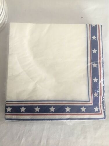 Stars and Stripes American Premium Party Paper Cups and Napkin Lot of 4