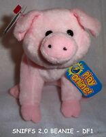 TY Beanie Baby 2.0 - SNIFFS the Pig 5 inch - MWMT's Stuffed Animal Toys