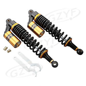 400mm-Ojo-A-Ojo-Motocicleta-Amortiguador-de-suspension-Shock-Absorber-Oro
