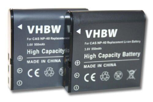 2x acu batería 950mah para dxg pac-0040 dxg556v HD dxg-517v dxg-556v