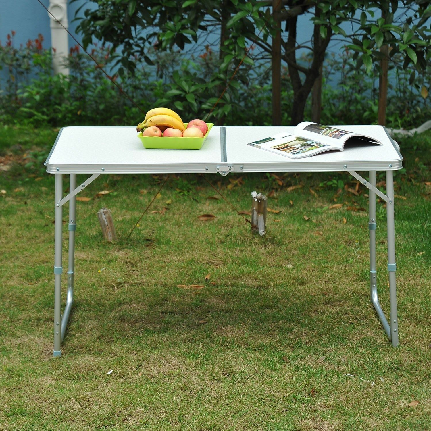 Outdoor Patio Roll up Portable Folding Camping Square  Picnic Table Aluminum Leg  a lot of surprises