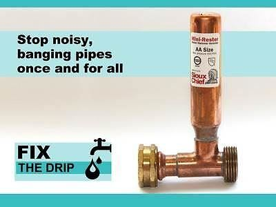 Stop Noisy Pipes Water Hammer Arrester Water shock Preventer Thumping Pipes
