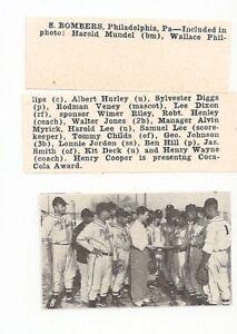 Details about Bombers Philadelphia Pennsylvania 1948 Baseball Team Picture  RARE