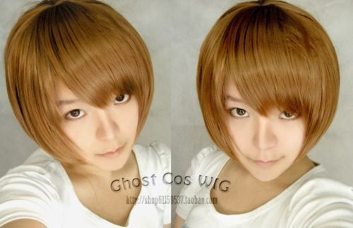 Death Note Light Yagami Short Anime Cosplay Costume Wig wig Cap Free Ship