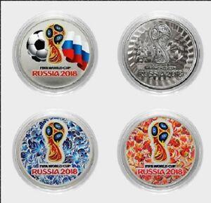 Rußland 2016 Fußball Fifa 2018 Wm Weltmesterschaft Emblem X 4