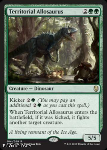 Territorial Allosaurus x4 NM Dominaria MTG Rare