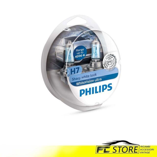 Lámparas para Faros Coche Philips White Vision Ultra H7 12V 55W 12972WVUSM