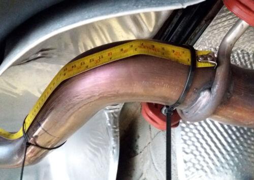 VW Scirocco R  Centre resonator mid silencer delete pipe deres pipe