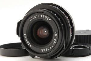 【MINT】Voigtlander Color Skopar 21mm F4 Lens For Leica M From JP (E937-330)