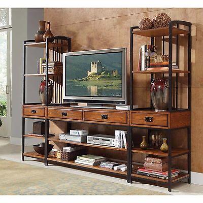 Entertainment Center Wall Unit Media Modern Office Furniture Home Decor Tv Stand 755464350139 Ebay