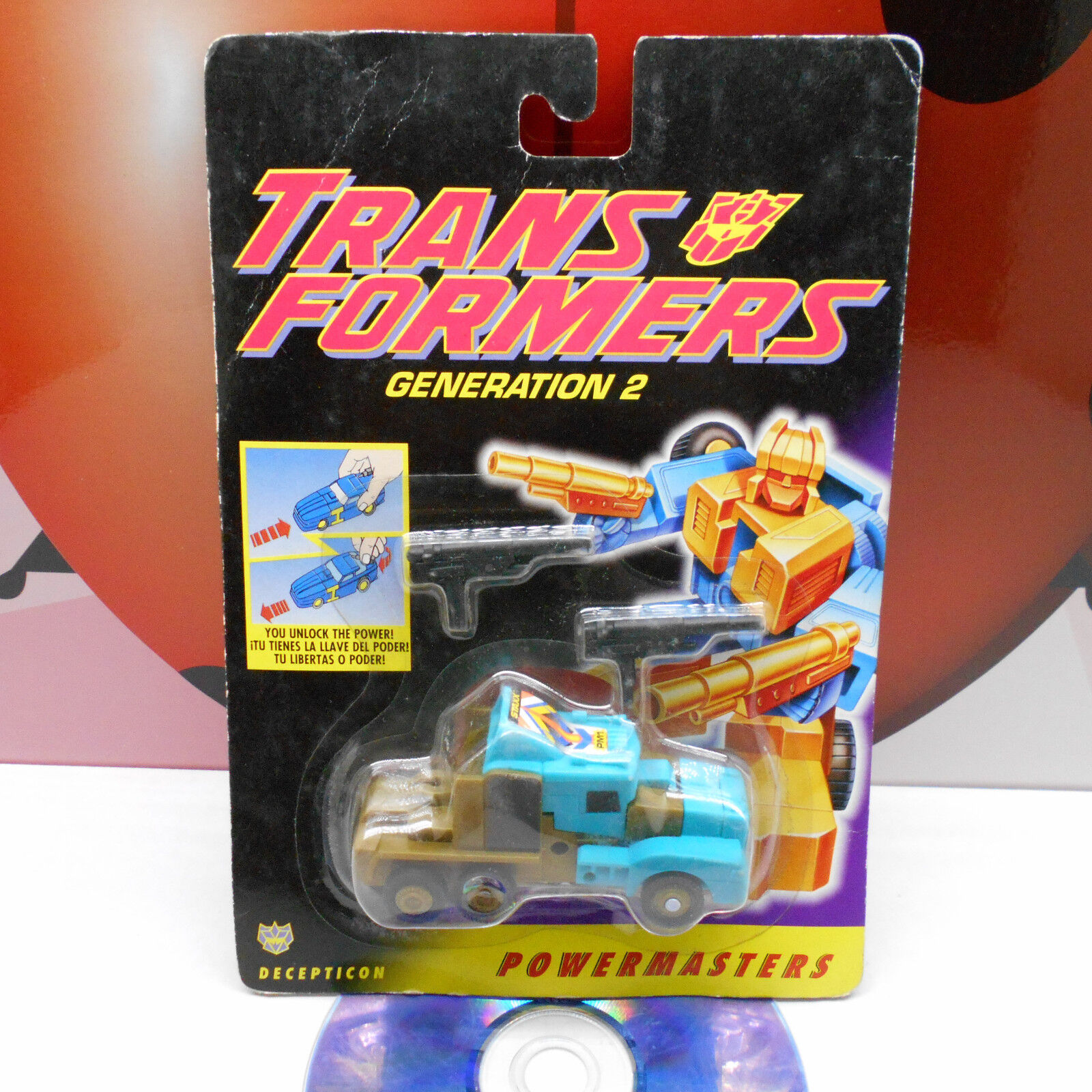 Transformers G2 Staxx powermasters Decepticon figura 1994 Hasbro Vintage Raro Ex