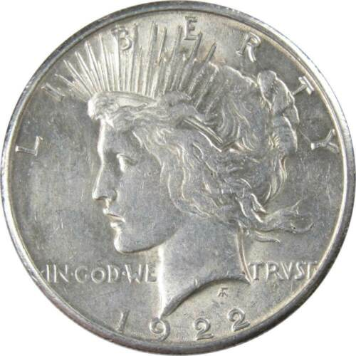 1922 S $1 Peace Silver Dollar US Coin XF EF Extremely Fine