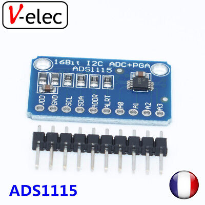 1347# ADS1115 Module 16 Bit I2C ADC 4 channel with Pro Gain Amplifier RPi