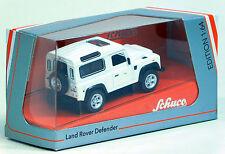 Schuco 1/64 Land Rover Defender 90 White DIECAST 452013400