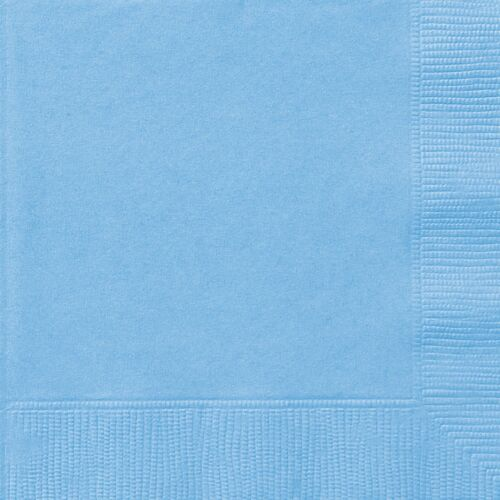 PastelPowderPale Baby Blue Paper Party LunchLuncheon Napkins 1-120pk