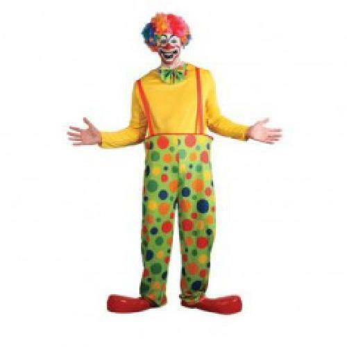 Da Uomo Divertente Clown Del Circo per bambini intrattenimento COMMEDIA Fancy Dress Party Costume