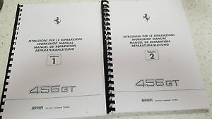 Details about FERRARI 456 GT WORKSHOP MANUAL REPRINTED - WIRING DIAGRAMS on