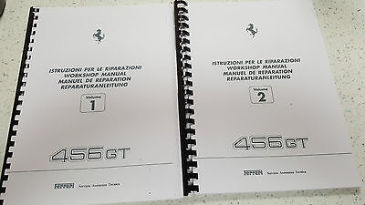 FERRARI 456 GT WORKSHOP MANUAL REPRINTED - WIRING DIAGRAMS ARE FOR THE 456M  | eBay