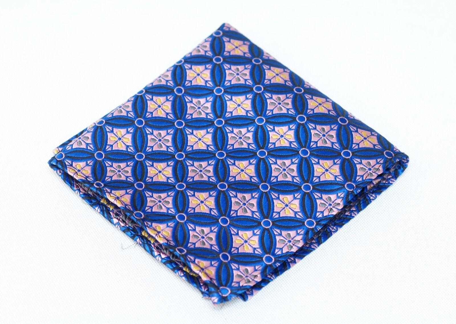 Lord R Colton Masterworks Pocket Square Salvador Sapphire Silk - Retail New