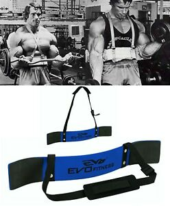 EVO-Arm-Blaster-Weightlifting-Biceps-Isolator-Gym-Support-Straps-Fitness-Wrap
