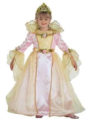 Volitivo Vestito Costume Carnevale Dolce Principessa 5 6 7 8 9 10 11 Anni Avere Una Lunga Posizione Storica