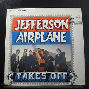 Jefferson-Airplane-Takes-Off-LP-VG-LSP-3584-RCA-Victor-Stereo-1st-Vinyl-Record