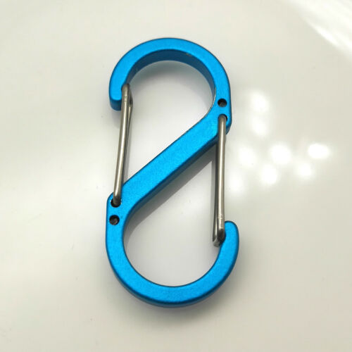 Durable 8 Type Carabiner Key S Shape Chain Hook Clip Buckle S-biner Slidelock