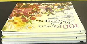 100-FLOWERS-TO-KNIT-amp-CROCHET-Paperback-NEW