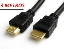 CABLE HDMI v1.4,  3m , TDT, DVD, BLU-RAY, XBOX, PS3, HDTV, TV 3D, FULL HD