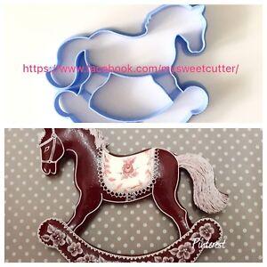 Cavallo A Dondolo Pasta Di Zucchero.Dettagli Su Formine Biscotti Natale Cavallo A Dondolo Puntali Per Albero 10cm Cookie Cutter