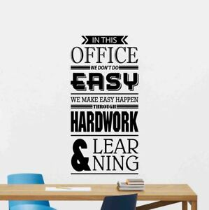Image Is Loading In This Office Wall Decal Teamwork Vinyl Sticker