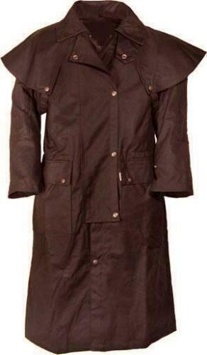 XXXL brauner braun wachs wax Reit Regen Wachs Mantel Australien Style B WARE