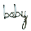 Baby-Girl-Boy-Script-Mot-Baby-Shower-Arrivee-Parti-Decoration-Foil-Balloon miniature 2