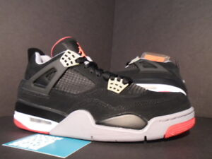 new style 32eab 36388 Details about NIKE AIR JORDAN IV 4 RETRO OG BRED BLACK CEMENT GREY FIRE RED  WHITE 308497-089 8