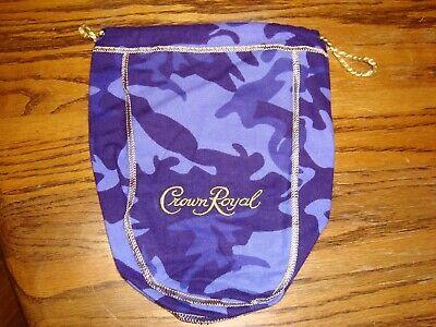 """foto de Limited Crown Royal Camouflage purple bag camo 750 ML 9"""" x 5"""" x 2 5"""""""