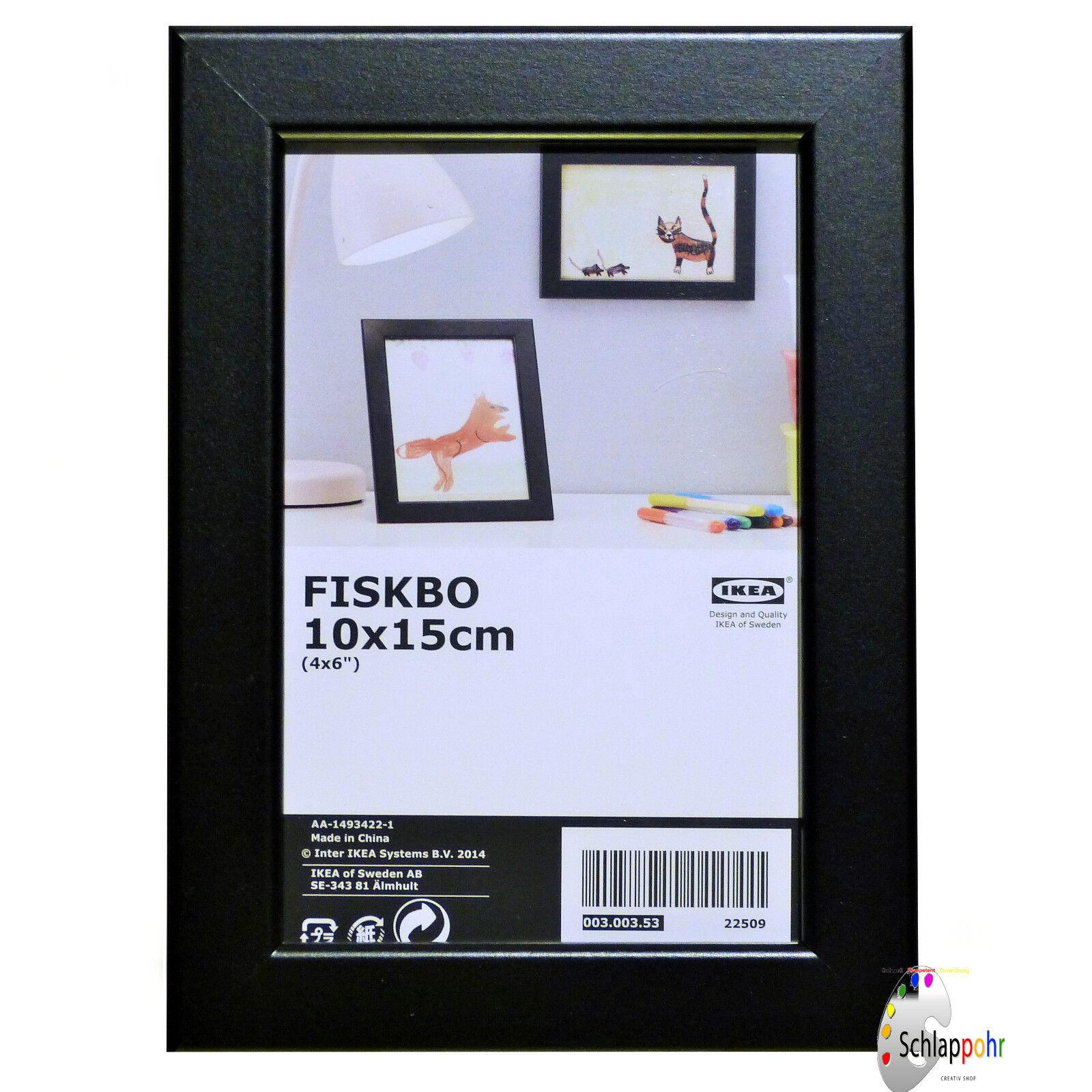 IKEA FISKBO Rahmen In schwarz (10x15cm) Bilderrahmen Fotorahmen | eBay